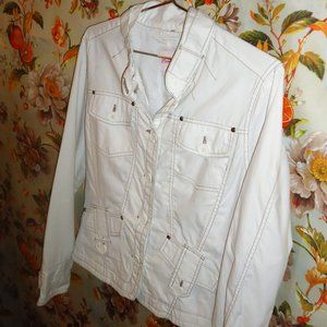 Point Zero White Nylon Lightweight Jacket